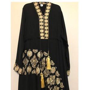 NWOT Black abaya/dress, large size, used for sale